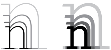 Charlie font family, proportional scaling