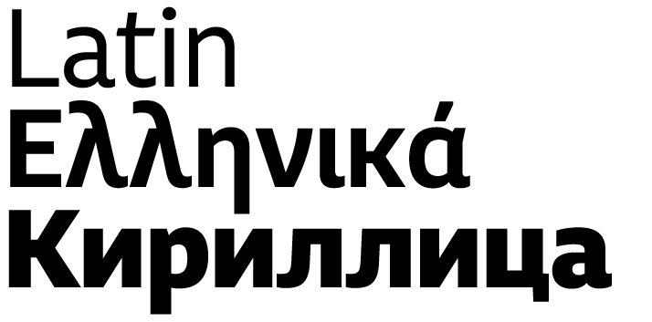 Cyrillic & Greek