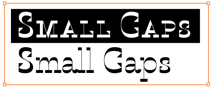 Karloff Small Caps feature