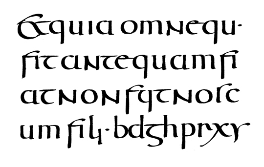 Roman Half-Uncial from the 5th century.