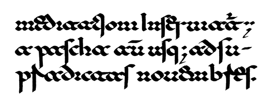 Lombardic-Beneventan script from the 11th century.