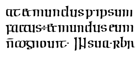Irish Half-Uncial from the 8th century.