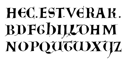 Uncial from the late Carolingian period.