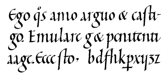Carolingian minuscule from the 11th and 12th centuries.