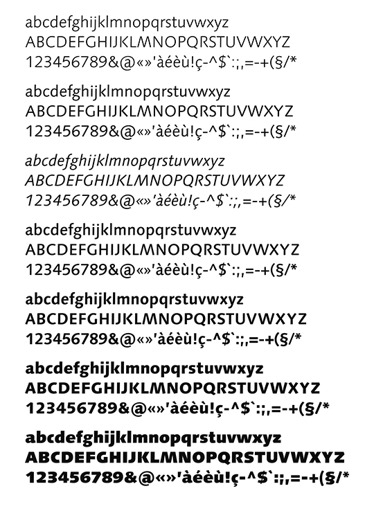 Syntax styles (produced by Linotype).