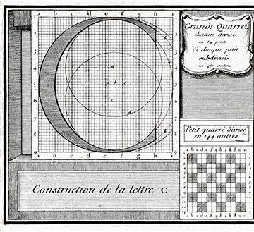"Construction grid for ""romain du roi""."