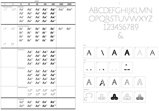 History and Fedra font systems