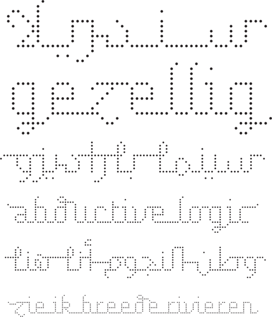 Nuqat, a dot matrix typeface
