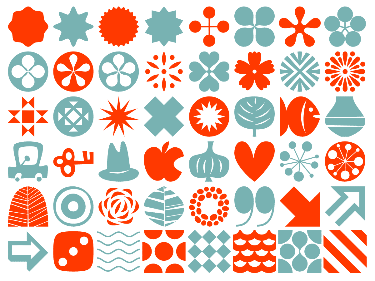 Woodtype Ornaments