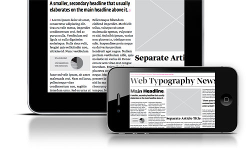 Typotheque web font service support iPad and iPhone