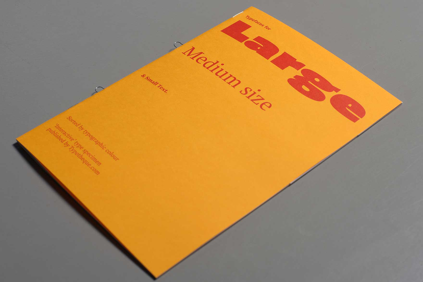 Typotheque type specimen No. 10