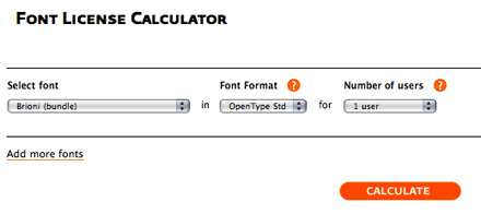 Font License Calculator