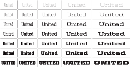 United typeface designed by Tal Leming