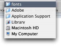 Unpacking and installing fonts
