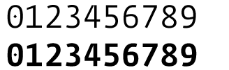 Fedra Mono Screen tabular numerals