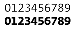 Fedra Sans Screen tabular numerals