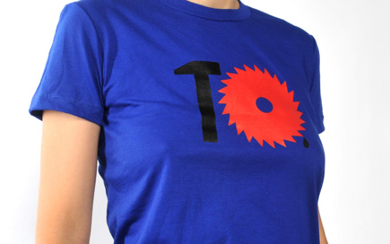 Max Kisman T-shirt Typotheque 10 years