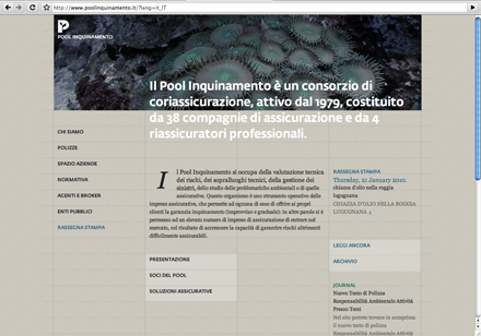 This Italian insurance group,consisting of 38 insurance companies, usesFedra Sans on its main page.