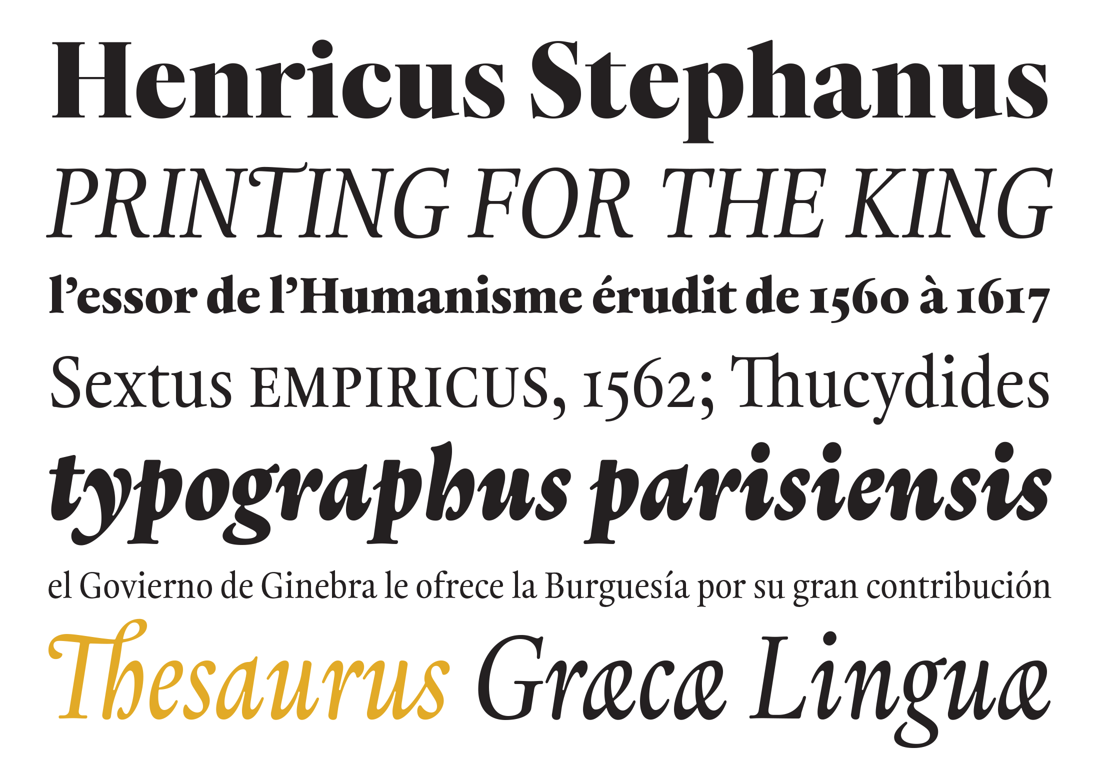 Typotheque: Thesaurus, a typeface with one foot in the past